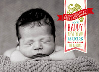 Birth announcement holiday cards